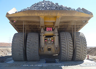 Trakblaze mining truck weighing